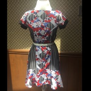 NEW (no tags) Peter Pilotto Belted Dress Size 4